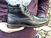 Демисезонные ботинки броги мужские черные кожаные размер 40, 41, 42, 43, 44, 45, фото 6
