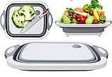 Дошка обробна складна 2 в 1 для овочів і фруктів, фото 5