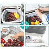 Дошка обробна складна 2 в 1 для овочів і фруктів, фото 7