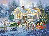 Різдвяна казка Схема повної вишивки бісером