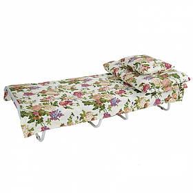 Кровать на ламелях Ø 25мм Бязь Цветы полевые (Vitan ТМ)