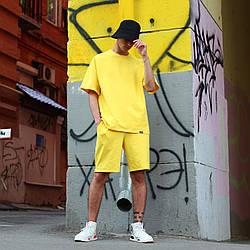 Футболка мужская жёлтая  Quil (Квил) бренд Тур  размер XS, S, M, L, XL