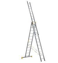 Сходи професійна алюмінієва трисекційна універсальна 3 х 10 ступенів