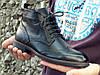 Высокие кожаные мужские броги, фото 5