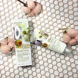 3W Clinic Moisturizing Olive Hand Cream - Зволожуючий крем для рук з екстрактом оливи