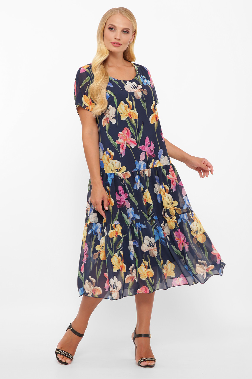 Платье летнее Катаисс синее Ирис