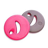 Диски для аквааэробики 2 шт Mad Wave AQUADISK EVA Серый-розовый (СПО M082901)