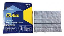 Скобы для степлера Kubis каленые оцинкованные 10 мм 1000 шт (01-02-0110)