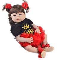 Темноволоса силіконова лялька реборн Аліса. (04879), фото 1