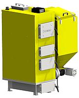 Котел твердотопливный комбинированый ENERGUS BATgaz 25 кВт, автоматическая подача, три хода, КПД 90%, 95 С.