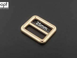 Рамка 2-х щелевая 65-020, цв. золото, 25мм