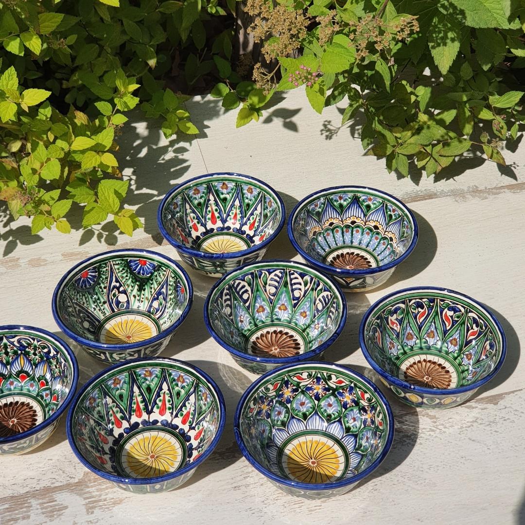 Узбекская пиала ручной работы ~100 мл, d 9 см. Керамика