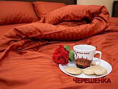 Двуспальный набор постельного белья 180*220 из Страйп Сатина №541340 KRISPOL™