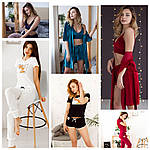 Комплекты пижам для очаровательных девушек и женщин