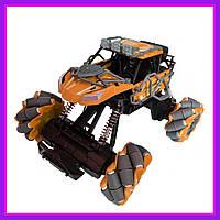 Детская трюковая машинка вездеход Fever Buggy 4WD 4x4 На пульте радиоуправления Оранжевая