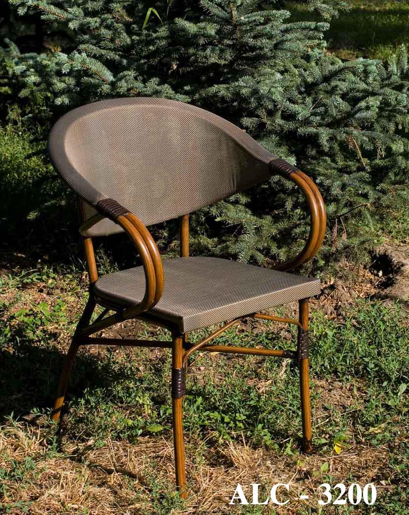 Кресло для открытых площадок из алюминия с обивкой из текстиля ALC - 3200