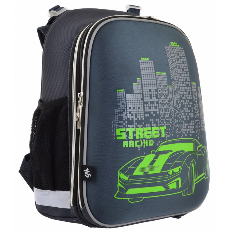 Рюкзак школьный Yes каркасный отд. для ноутбука Speed racing  (555966)