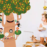 Детская наклейка Доброе Дерево самоклеющаяся интерьерный стикер большие наклейки на стены оракал матовая матовая