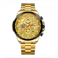 Механические мужские часы Forsining Gold с гарантией