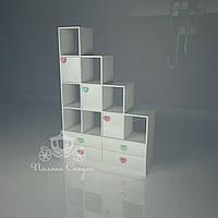 """Стеллаж - перегородка с ящиками """"Золушка mix"""""""