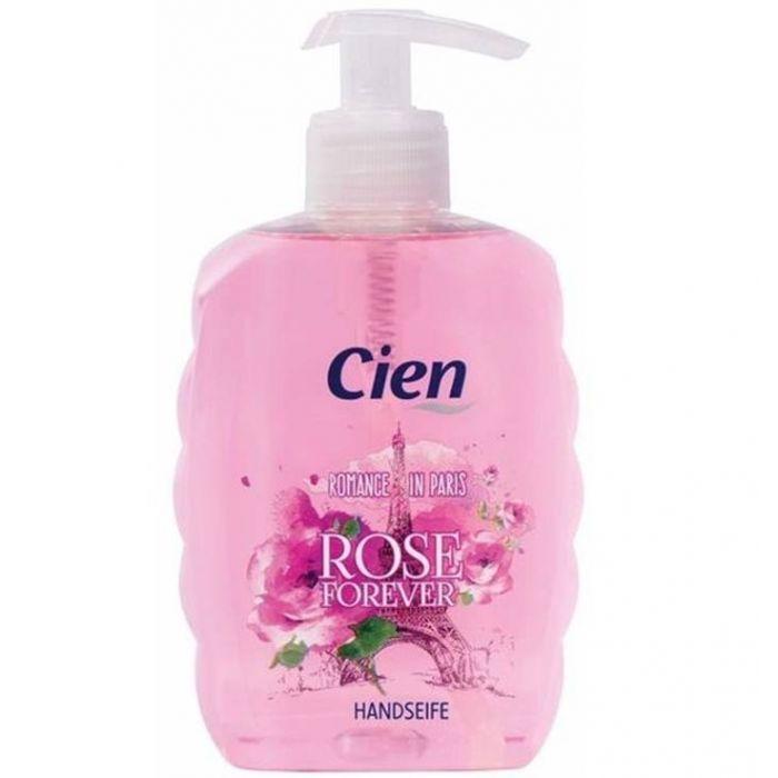Жидкое мыло для рук Cien Rose Forever с дозатором, 500 мл