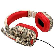 Геймерские наушники iPega PG-R005 с поворотным микрофоном (Камуфляжный), фото 2