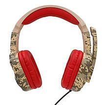 Геймерские наушники iPega PG-R005 с поворотным микрофоном (Камуфляжный), фото 3