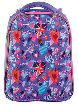Ортопедический рюкзак для начальной школы YES H-12 Fantasy 38х30см Фиолетовый (5056137142507)+Подарок 3мес приложения Родительский контроль