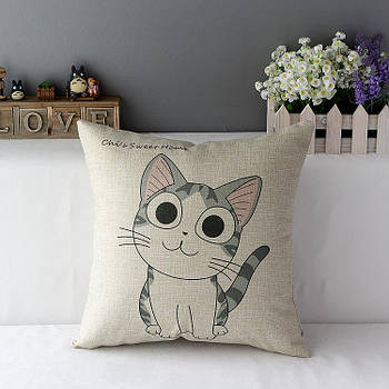 Наволочка декоративная для подушки Berni Милый котенок 45х45см Разноцветная (49867)
