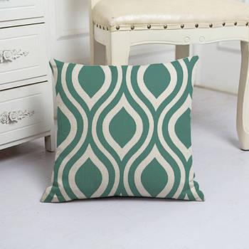 Наволочка декоративная для подушки Berni Безмятежность 45х45см Разноцветная (50118)