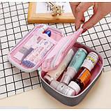 Аптечка-органайзер для ліків, портативна міні аптечка, фото 8