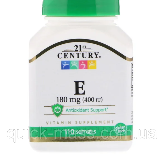 Витамин Е- 400 21st Century Vitamin E 400UI 110softgels