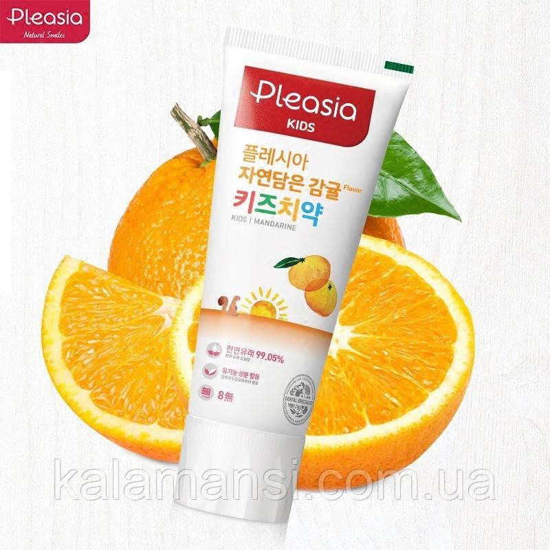 Детская зубная паста Pleasia Kids Toothpaste Mandarine 3+