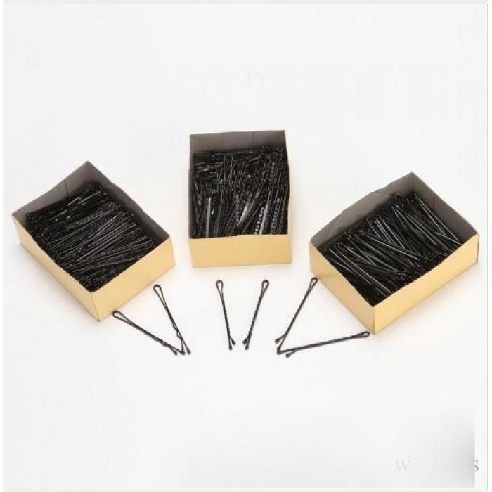 Невидимки для волос, черные, набор 150 шт
