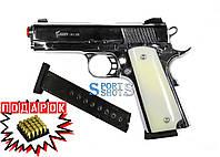 Стартовый пистолет Kuzey 911 SX chrome с доп. магазином + подарок (10 патронов), фото 1