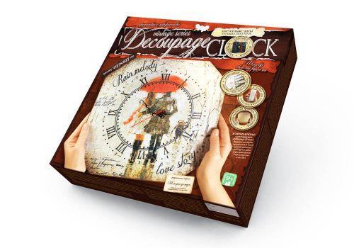 """Комплект креативного творчества """"Decoupage Clock Мелодия дождя"""", с рамкой  sco"""