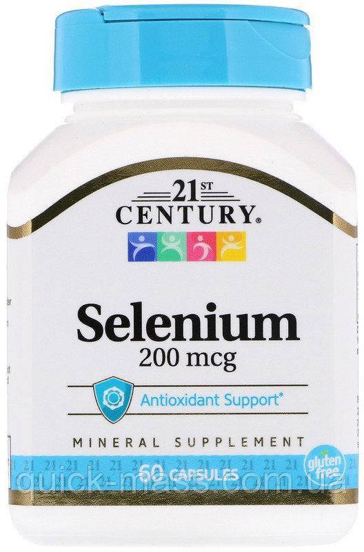 Селен 21st Century Selenium 200mcg 60caps