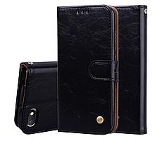 Чохол - книжка для Xiaomi Redmi Note 9 з силіконовим бампером і відділенням для карток Колір чорний