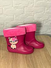 Резиновые сапоги для девочки Котик 27 Розовый 423036, КОД: 1788113