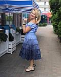 """Сукня жіноча рожеве, бургунд прошва бавовна """"Ліхтарики"""" , пл 13037-1, фото 5"""