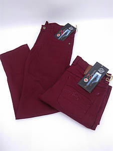 Котонові штани для хлопчика (бордо)