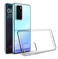 Чехол силиконовый для Huawei P40 ультратонкий прозрачный (хуавей п40)