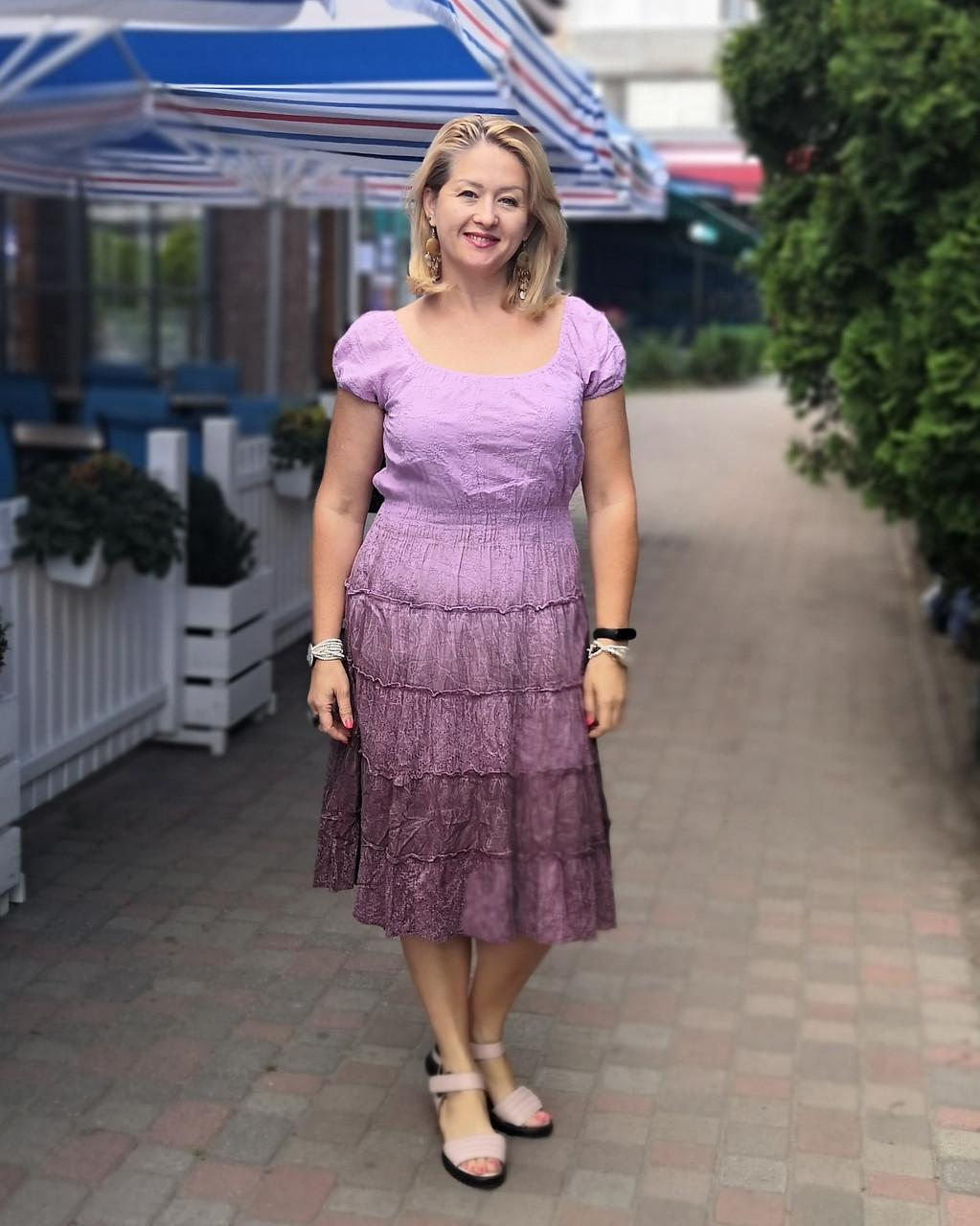 """Платье женское розовое, бургунд прошва хлопок  """"Фонарики"""" , пл 13037-1"""