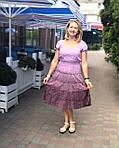 """Сукня жіноча рожеве, бургунд прошва бавовна """"Ліхтарики"""" , пл 13037-1, фото 4"""