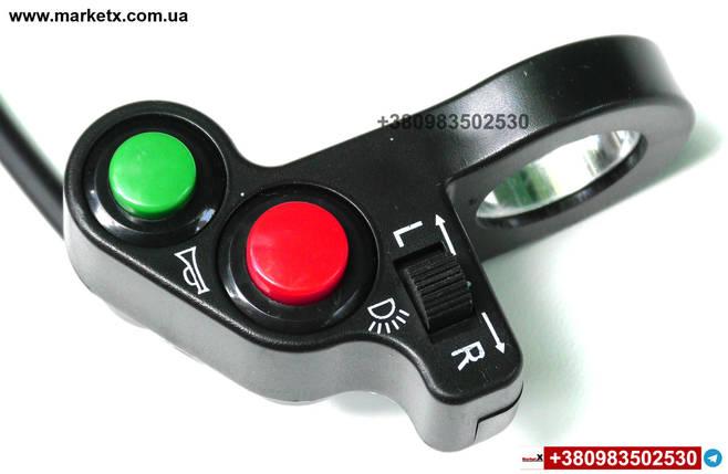 Блок кнопок поворотів, перемикач світла фар і звукового сигналу на кермо 22мм, фото 2