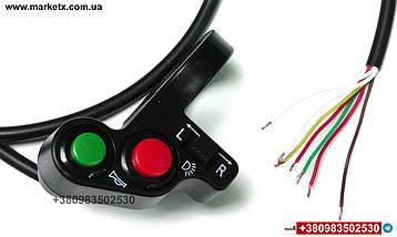Блок кнопок поворотів, перемикач світла фар і звукового сигналу на кермо 22мм, фото 3