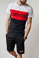Летний комплект футболка шорты Левайс (Levis)