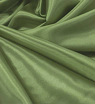Атлас Стартекс Оливковый(Ширина 150см), Цвет  №45, фото 3
