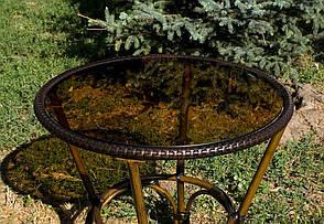 Стол для открытых площадок из алюминия и искусственного ротанга  ALT - 7090 цвет коричневый, фото 2