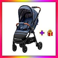 Детская прогулочная коляска CARRELLO Eclipse CRL-12001 синий цвет. Дитячий візок